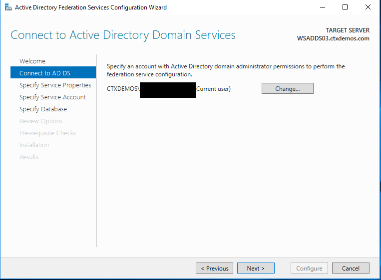 Connect to Active Directory domain services