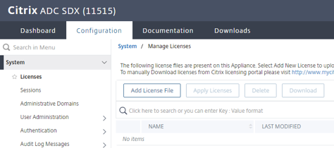 Select license file image