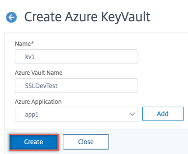 Azure Key Vault parameters