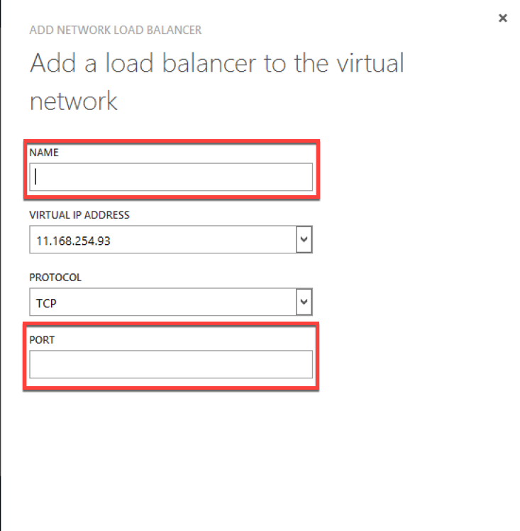 Select load balancer