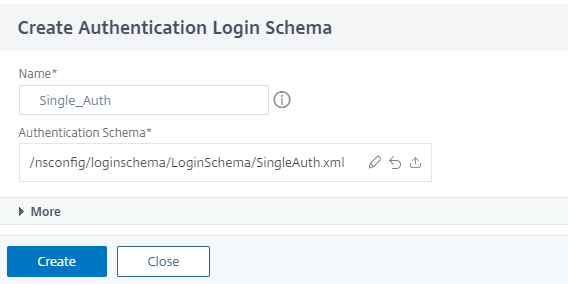 Create a single authentication schema