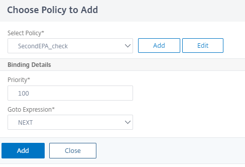 Click to add a policy