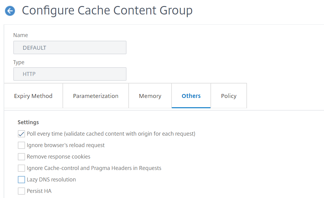 content group polling configuration