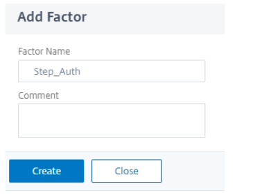 Create first factor