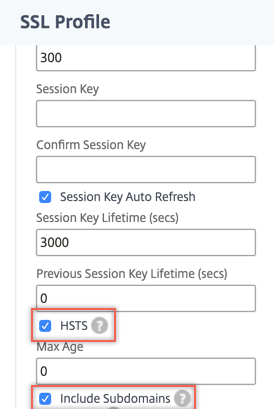 Enable HSTS