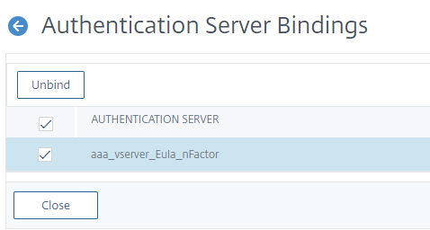 Unbind the nFactor flow from authentication virtual server