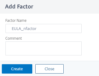 Add a factor name