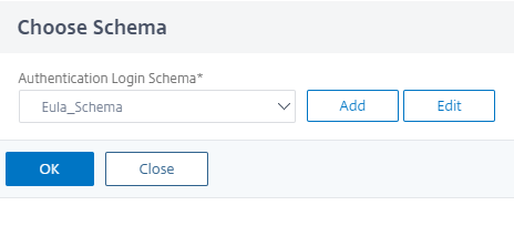 Select a schema for first factor