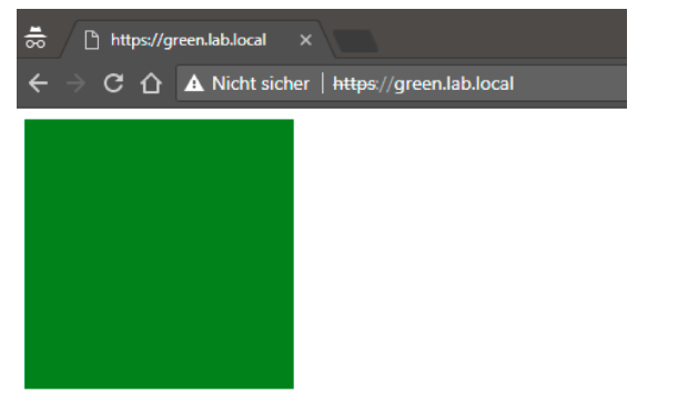 Green application display