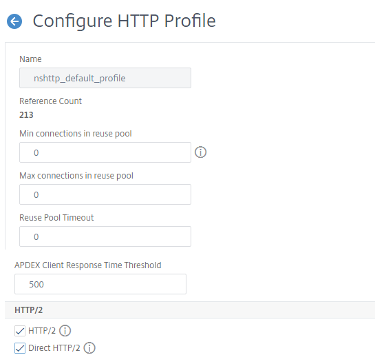 gRPC bridging add HTTP profile with http2 parameter