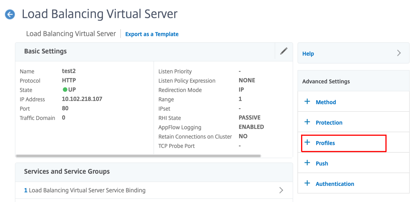 lb virtueller Server