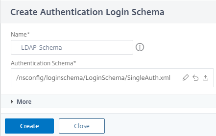 Add schema for LDAP auth
