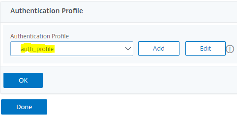 set auth profile
