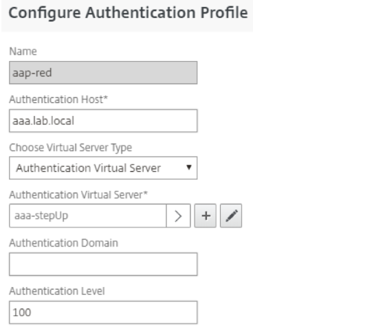 Configure auth profile