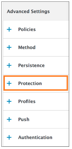 Protection redirect URL