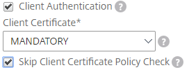 Skip certificate policy check