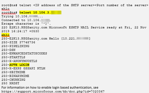 Enable login based auth on SMTP server