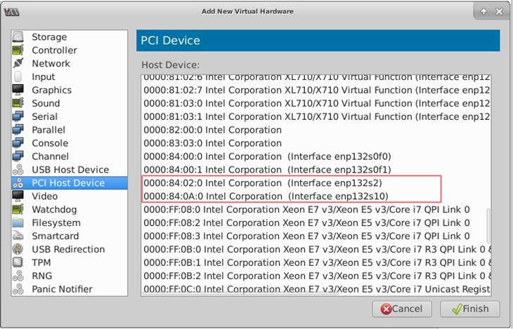 VF for Intel X722 10G NIC