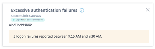 Excessive authentication failures what happened