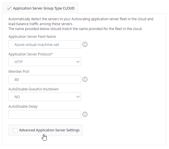 configure application for an autoscale group cloud