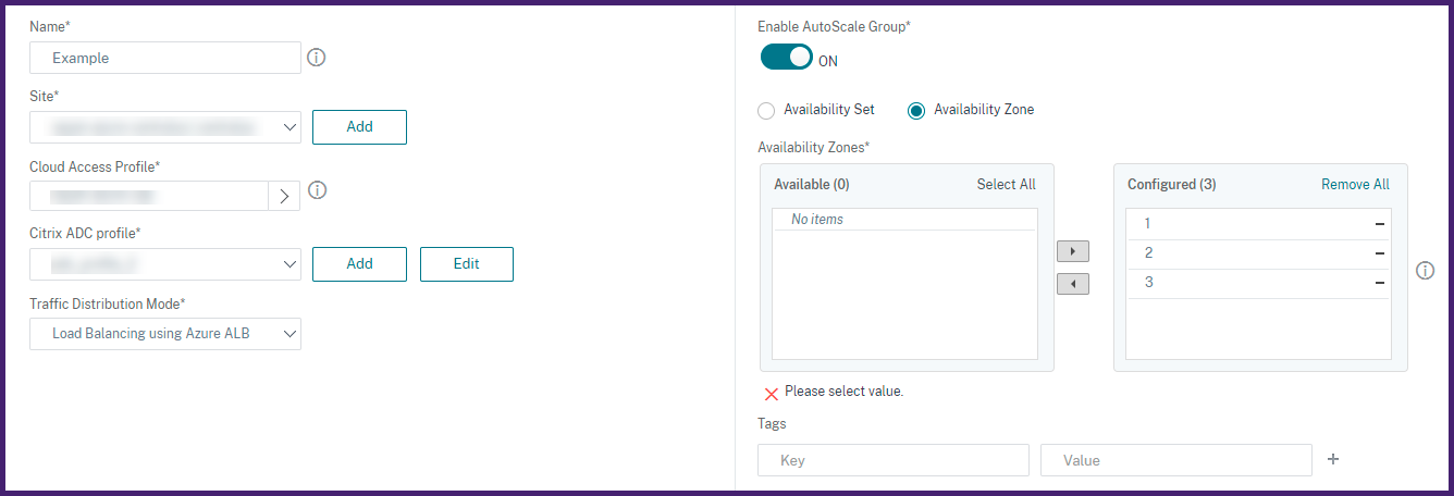 Create autoscale group