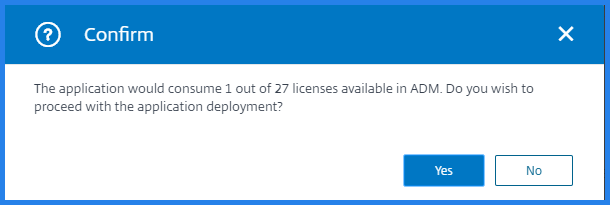 Consume license during application deployment