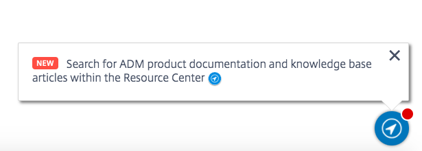 Citrix Cloud management console with Resource Center icon highlighted