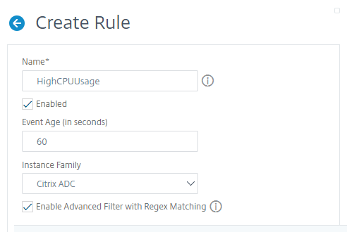 Create event rule