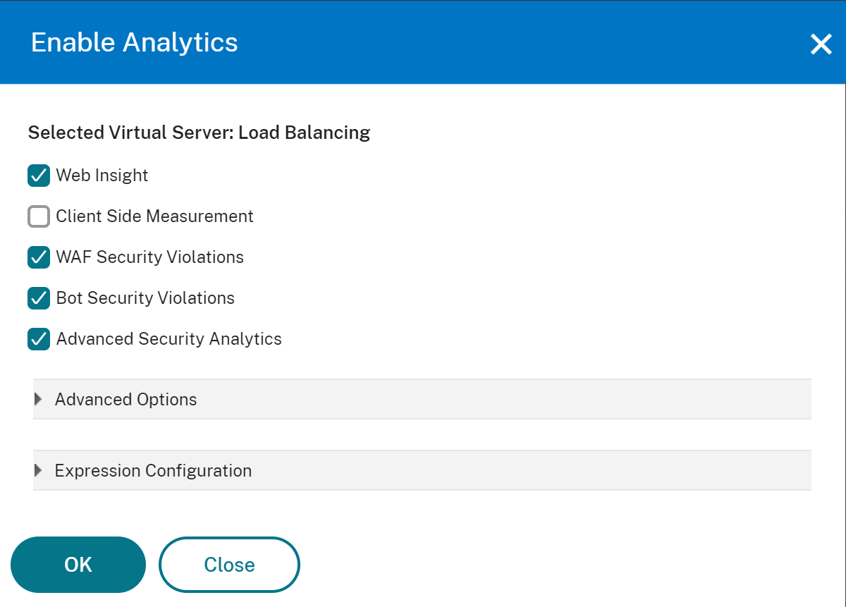 Enable the API analytics