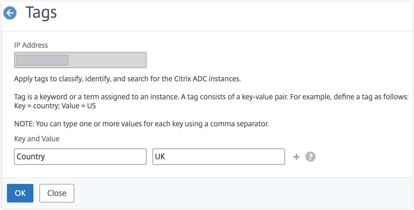 How to create tags and assign to instances