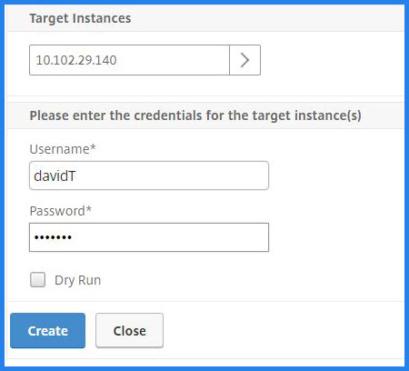 Specify instance credentials