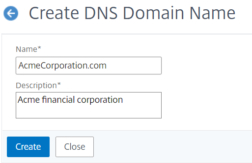 Create a DNS domain name
