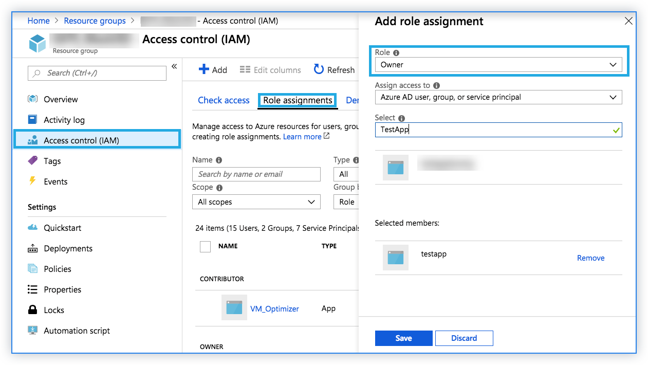 Assign role permission in Microsoft Azure