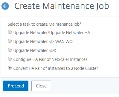 Convert HA pair instances to two node cluster