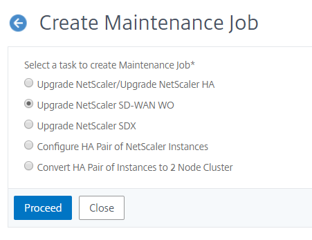 Upgrade Citrix ADC SD-WAN WO
