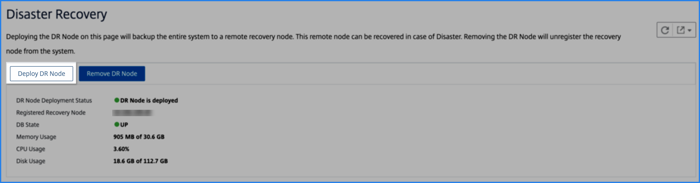 Deploy DR node in the Citrix ADM GUI