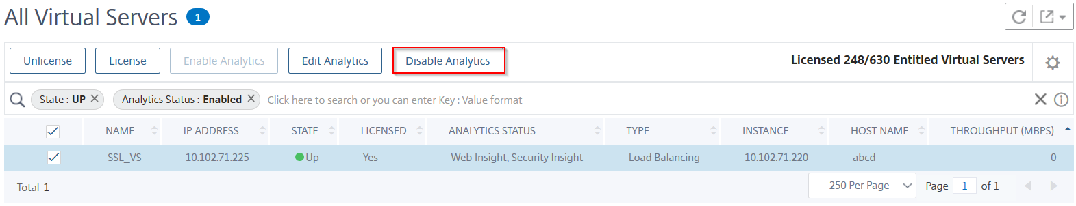 Disable analytics
