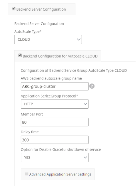 Configure an Autoscale application