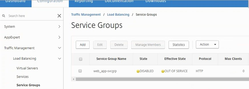 View Service Groups