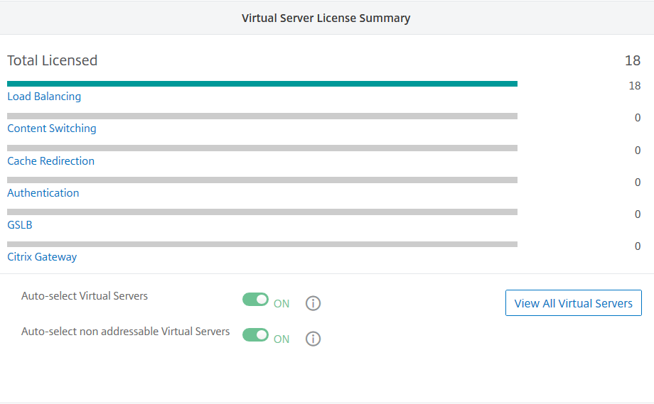 Enable auto-select non-addressable virtual servers
