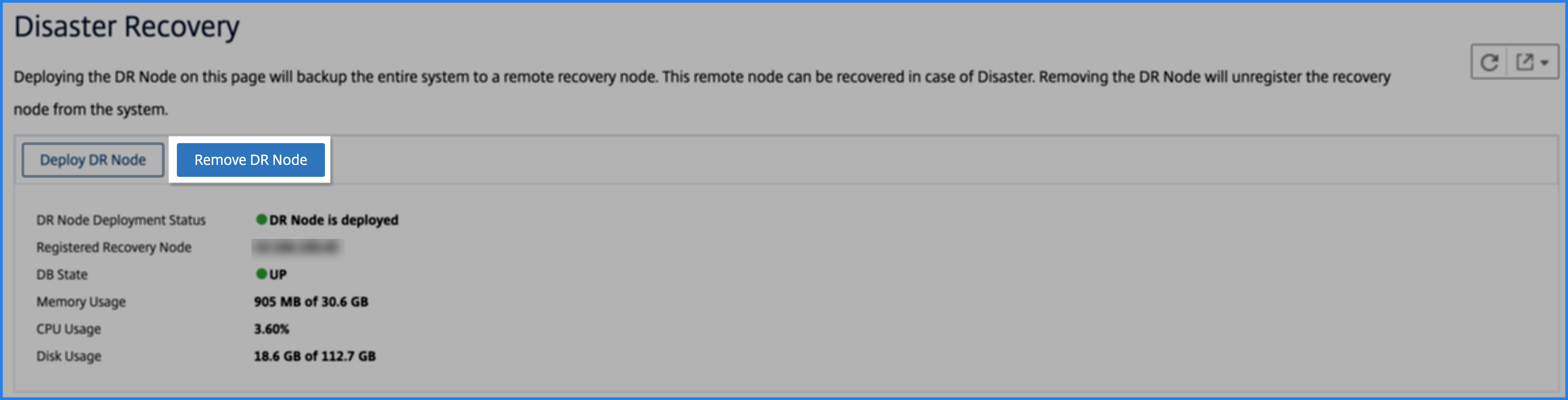 Remove DR node in the Citrix ADM GUI
