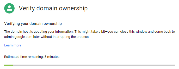 Domain ownership verification
