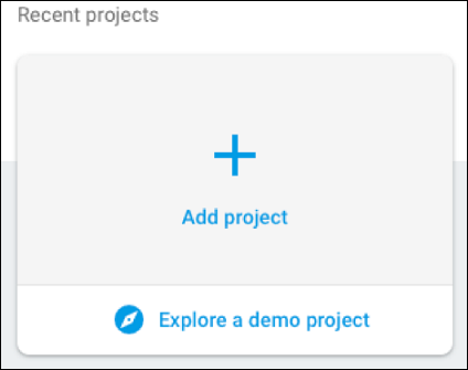The Create a project option