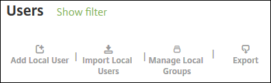User groups management