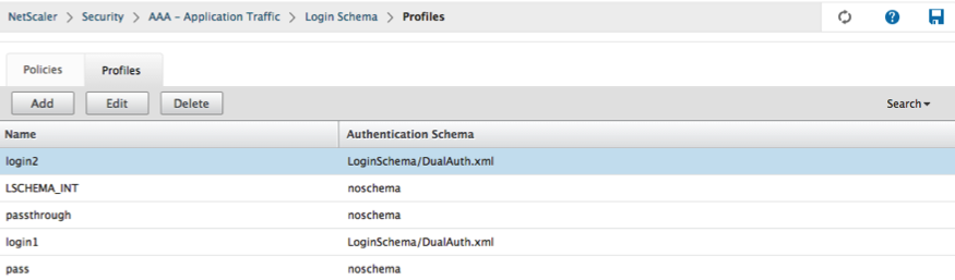 Verify login schema profile