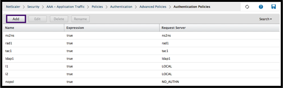 Add LDAP policy