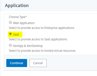 Simplified SaaS app configuration using a template