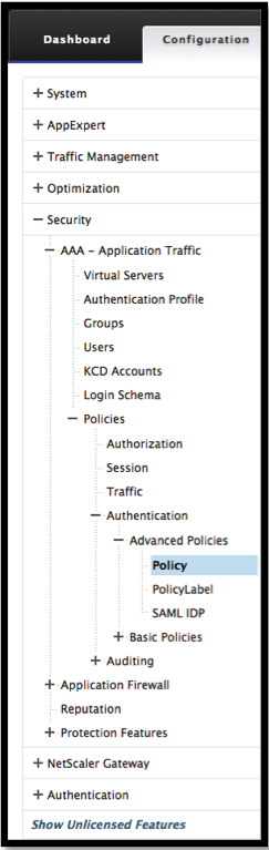 Add LDAP policy page