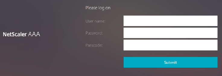 ADC authentication page