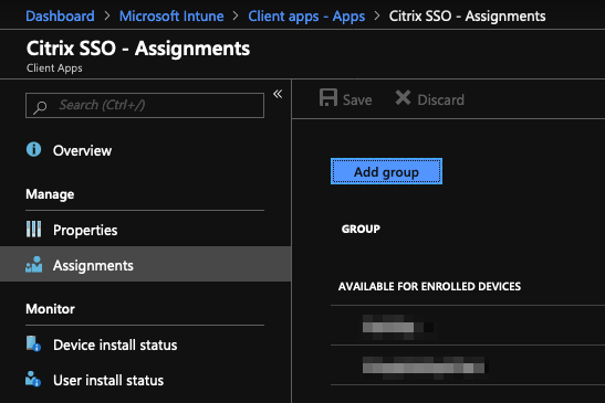 select sso assignment